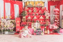 大阪のひな祭り家族写真バースデーフォト自宅出張撮影カメラマン