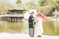 奈良公園結婚式和装色打掛前撮り出張撮影持ち込み外注カメラマン
