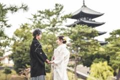五重の塔結婚式和装色打掛前撮り出張撮影持ち込み外注カメラマン