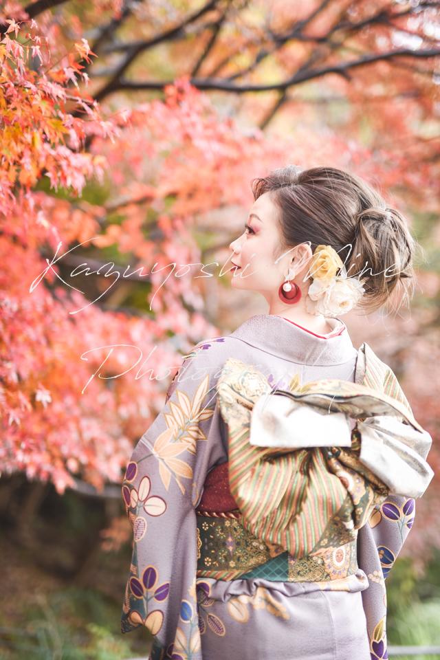 兵庫神戸布引ハーブ園紅葉ロケ成人式振り袖前撮り出張撮影会