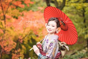 成人式前撮り振り袖ロケーション出張撮影サービスin布引ハーブ園(神戸)