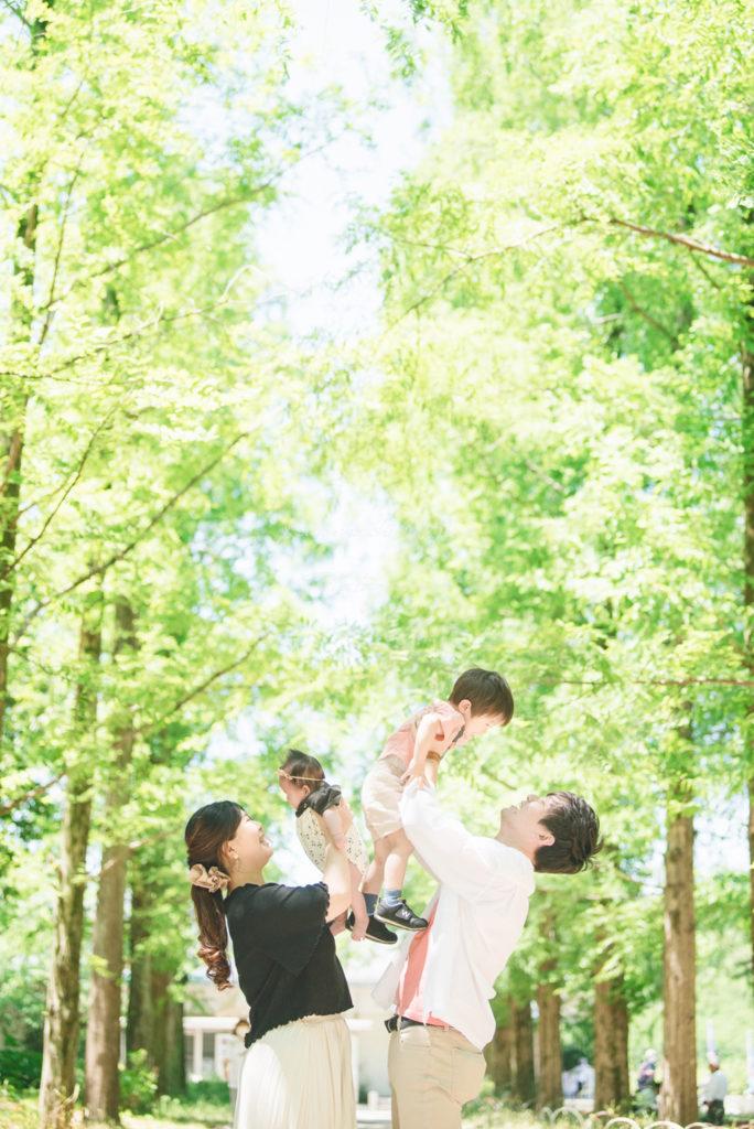 鶴見緑地公園ニューボーンフォト家族写真紫陽花出張撮影会