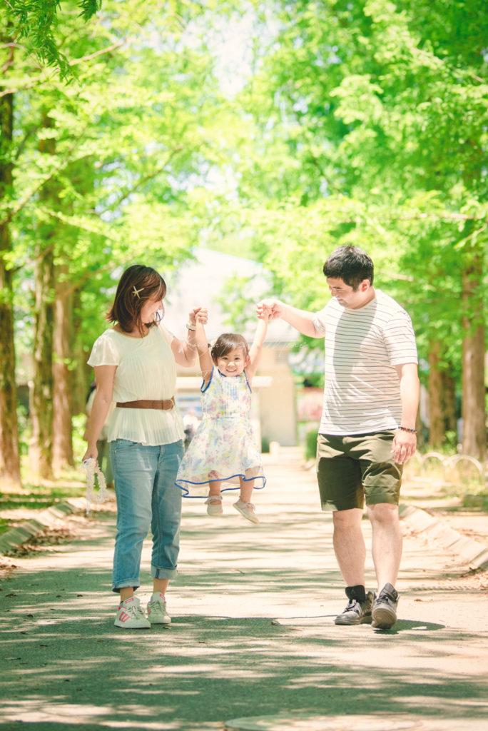 鶴見緑地公園プロフィール写真家族写真紫陽花出張撮影会