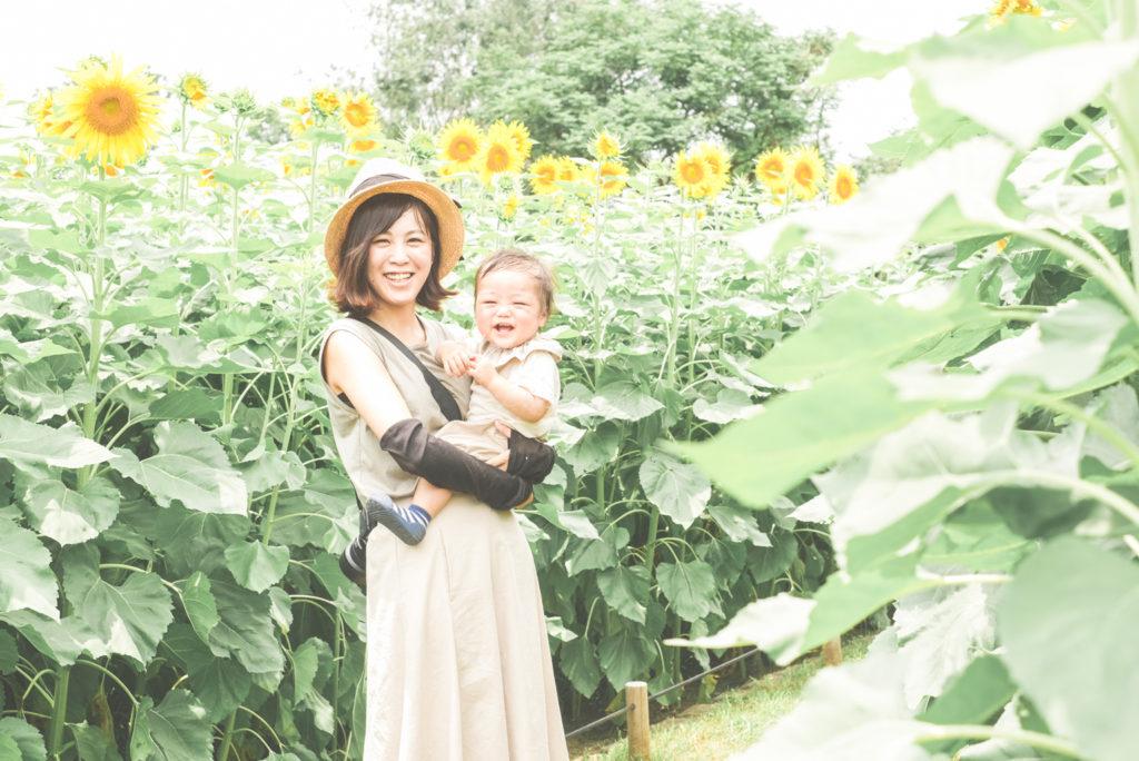 大阪市夏の思い出鶴見緑地公園ひまわりカップルフォト出張撮影会